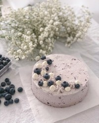 Butterfly Pea Flower Chiffon Cake with Blueberry Whipped Cream - pigoutyvr
