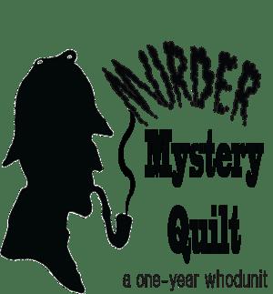 Murder mystery quilt logo square