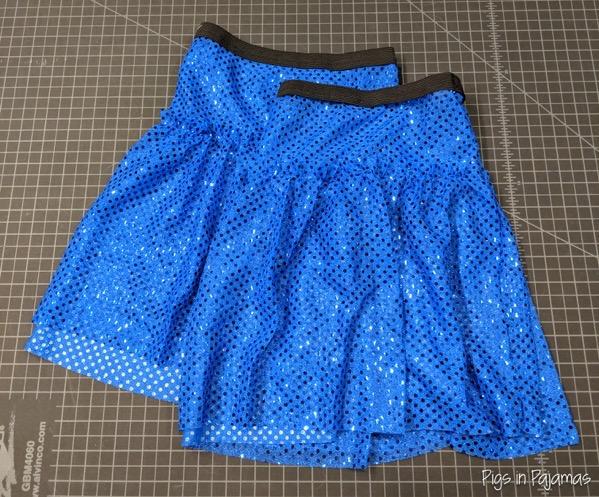 BlueGlitterDotRunningSkirt 1