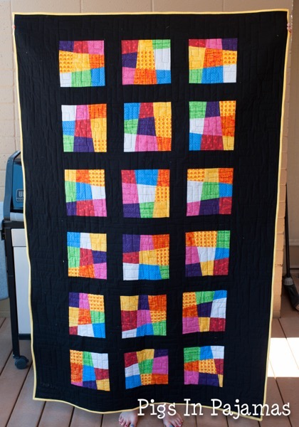 Crazy 9 patch quilt before washing 19430490286 o