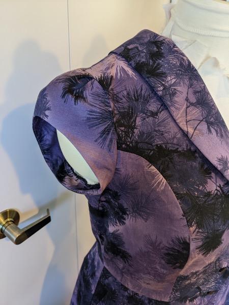 PurpleShirtDressCapSleeve