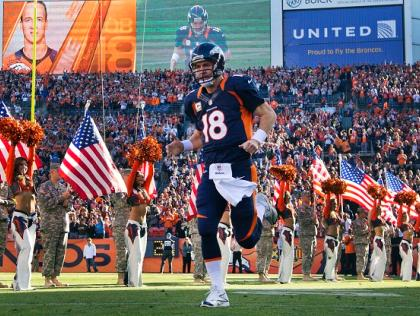 Peyton Manning Takes the Field in Denver (NY Daily News)