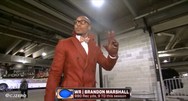 Bears stylemaster Brandon Marshall. (Photo: @cjzero)