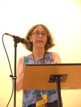 Joanne Arnott laying it down at the ForceField Readings (Photo © Kim Goldberg)