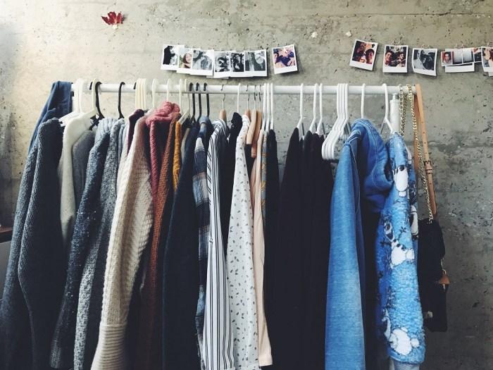 minimalistický šatník