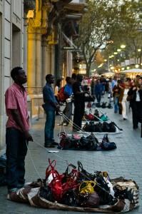 Gadehandlere klar til at stikke af