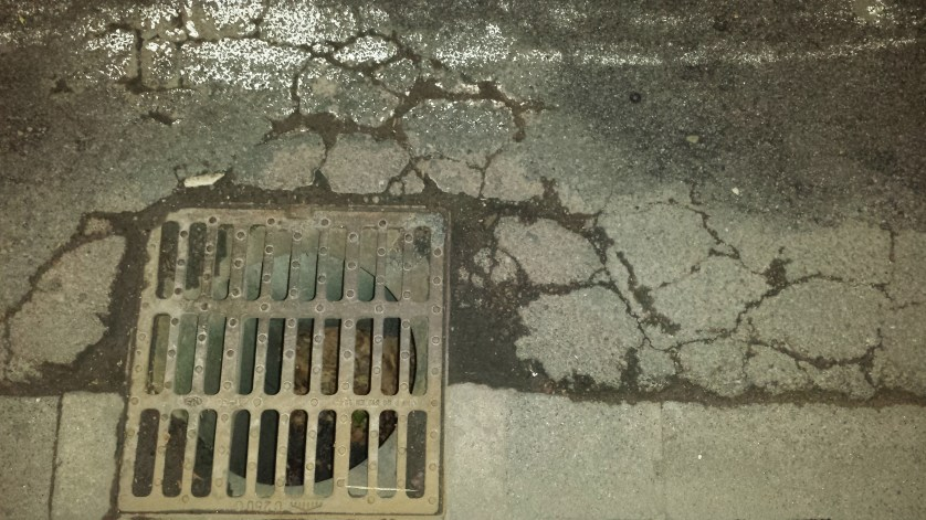 And around the sewer