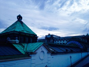 Albertina, looking at the roof of Palmenhaus and the National Library