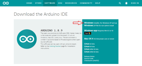 Arduino for Windows Installer, for Windows XP and up
