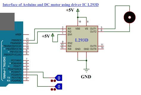 Arduino L293D Motor Interfacing