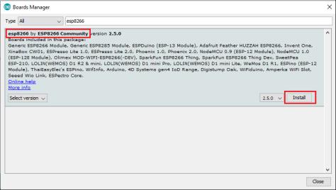 Install esp8266 on Arduino IDE