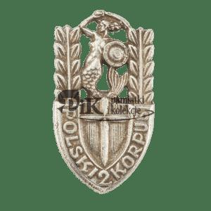 Przypinka 2 Korpusu Polskiego Polskich Sił Zbrojnych