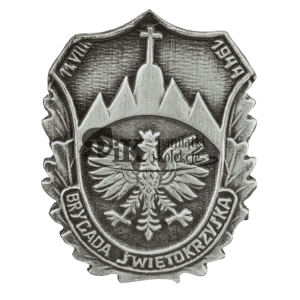 Przypinka Brygady Świętokrzyskiej Narodowych Sił Zbrojnych.