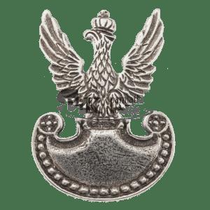 Przypinka z orłem z tarczą amazonek wzór 1919