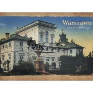 Pocztówka widok fragmentu Pałacu w Wilanowie z połowy XX wieku