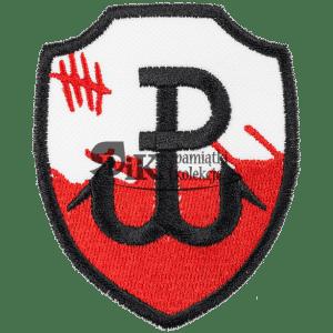 Naszywka Polska Walcząca PW biało czerwona