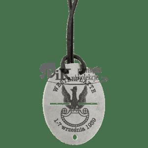 Nieśmiertelnik z orłem wojskowym wojskowym wz. 19