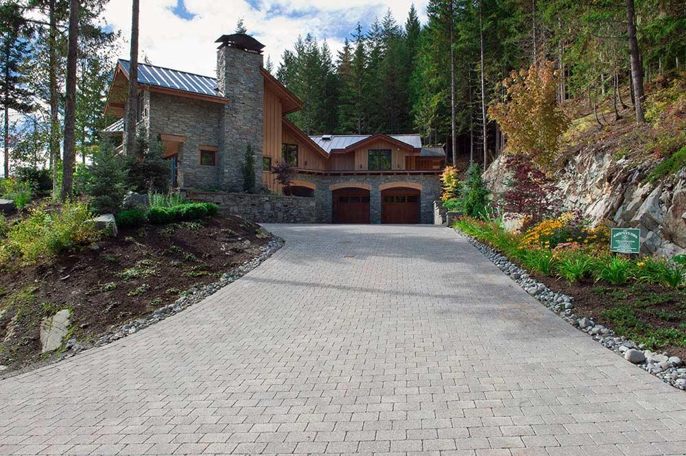 Whistler paving stone driveway