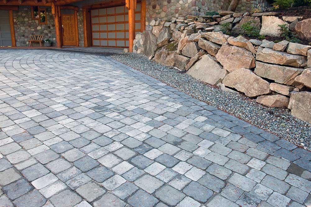 Whistler paving stone driveway detail