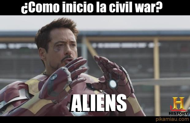 aliens civil war iron man tony stark