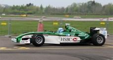 Mika Salo in a Jaguar F1