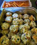 smoked bacon, nettles, green onions and 3 cheeses mini muffins