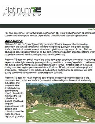 Platinum TE™ Brochure