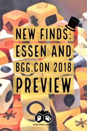 New Finds: Essen and BGG.CON 2018 Preview - Pinterest