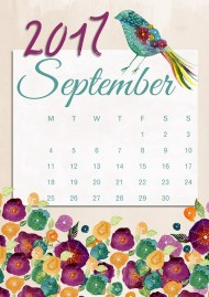 picture of September 2017 calendar