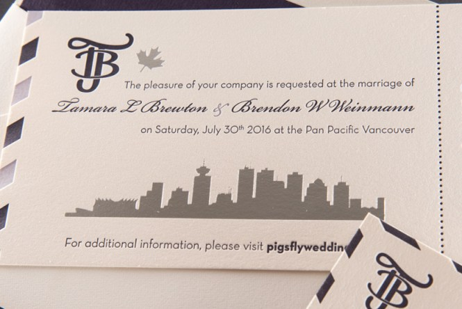 Boarding Pass Invitation Destination Vancouver Pike St