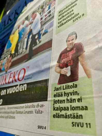 Juttua Vakka-Suomen Sanomissa.