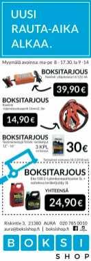Boksishop-mainontaa.