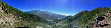 Mascan kylä näkyy pisteenä alhaalla.