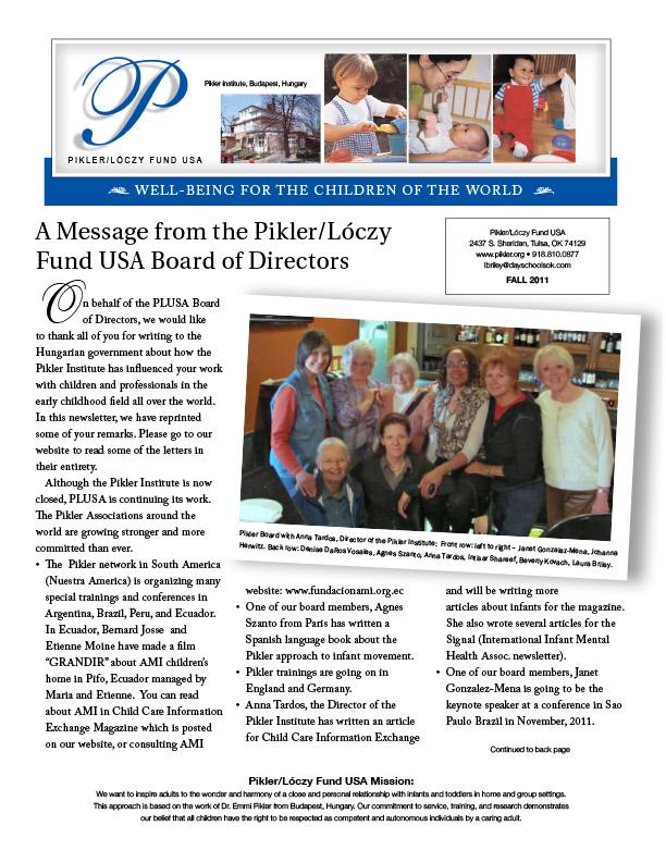 Pikler USA October 2011