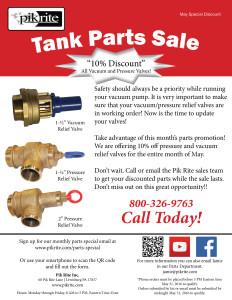 Tank parts sale flyer