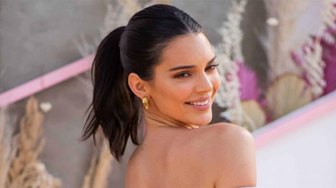 Kendall Jenner poses for a photograph.