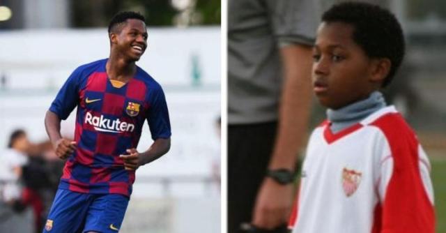 Ansu Fati, el 'niño robado' por el Barça al Sevilla