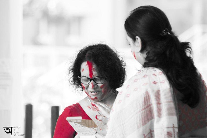 Sindoor Khela at Kolkata Durga Puja 2014 9