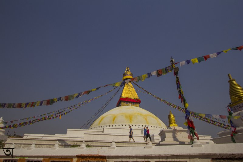 Boudhanath Stupa Kathmandu colourful prayer flags