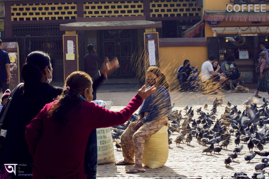 Boudhanath Stupa Kathmandu Offerings