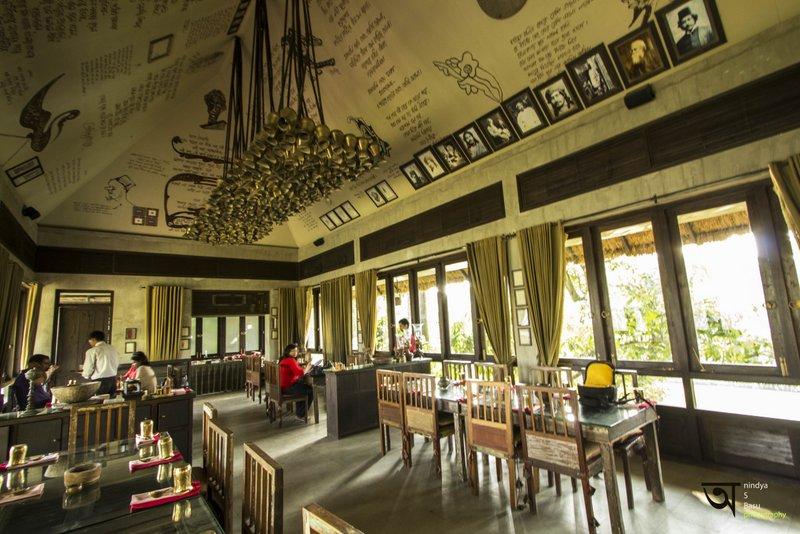 Inside Sonar Tori Restaurant at Ffort Raichak