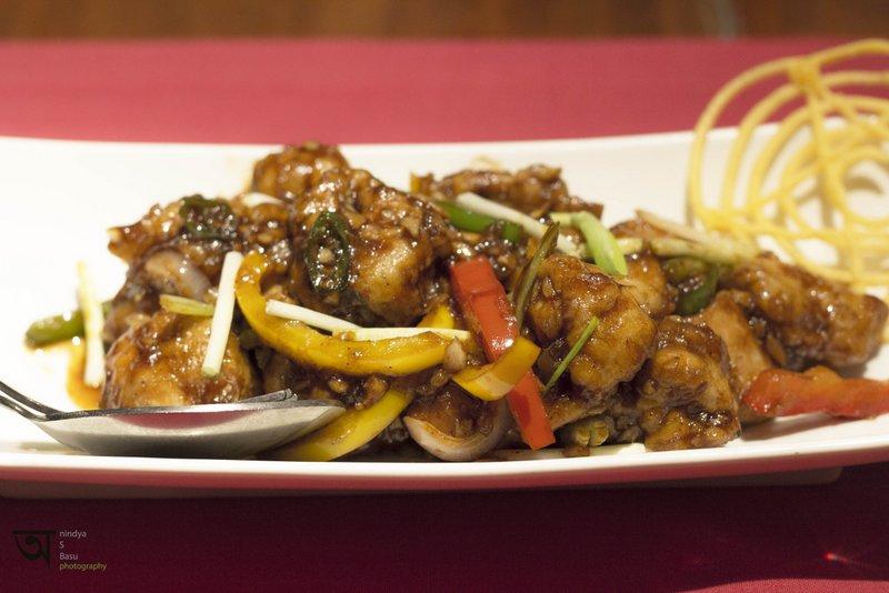 Delicious Tangra Style Chilli Chicken at The Orient Ffort Raichak Kolkata