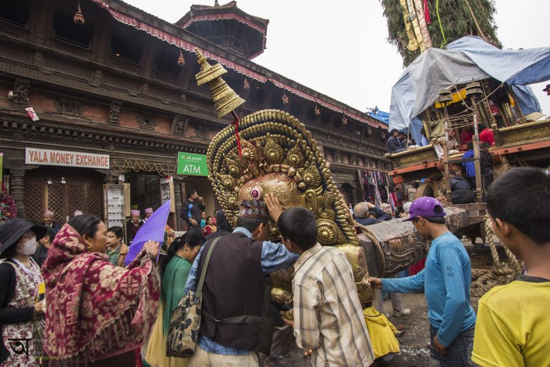 People seeking blessings at Rato Machhendranath festival in Kathmandu Nepal . Pictures by pikturenama
