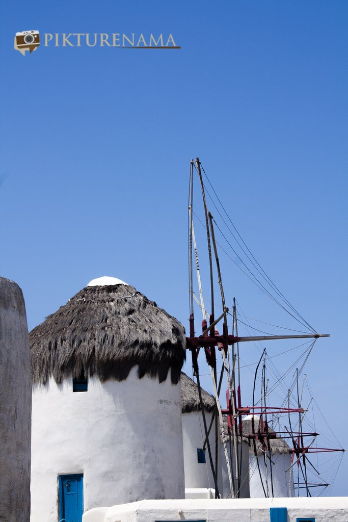 Kato Myloi - The windmills of Mykonos Greece by pikturenama all together