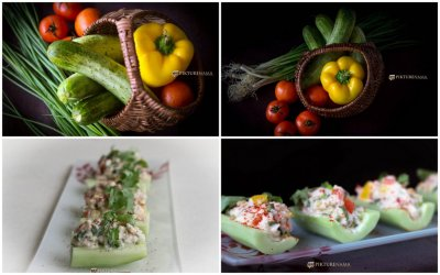 Cold Crab Salad in cucumber boats and my tryst with salads