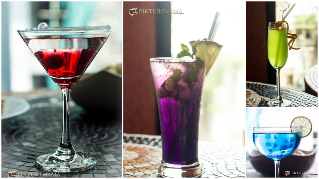 Spaghetti Kitchen Kolkata colourful mocktails and cocktails