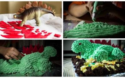 Version 1.0 turns 3 – Peppa pig , George and dinosaur cake