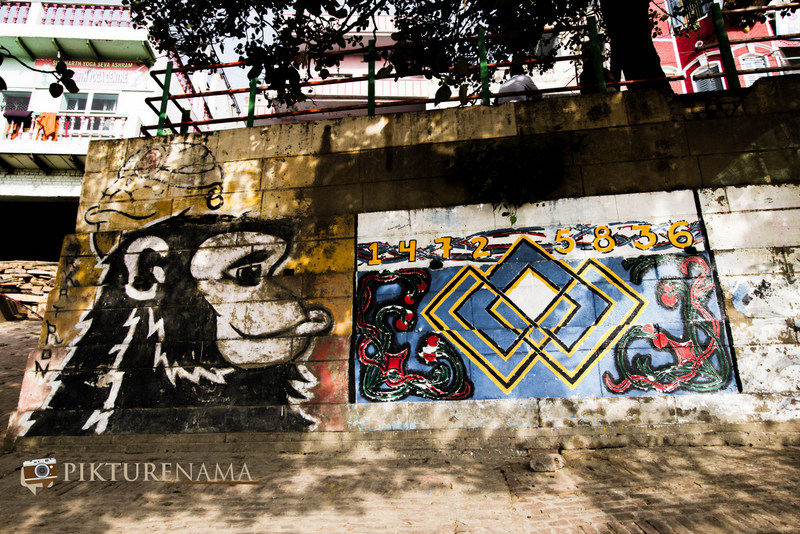 Graffiti on Varanasi Ghats fine art