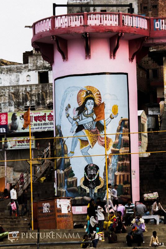 Graffiti on Varanasi Ghats Shiva