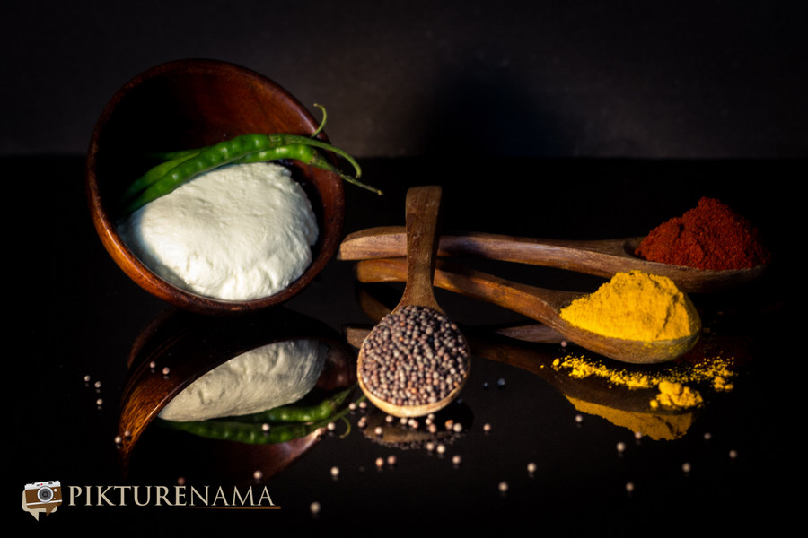 raw produces for Doi Ilish or Hilsa in Yogurt and mustard sauce by Pikturenama